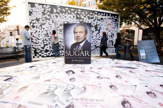 Alan Sugar Autobiography Launch