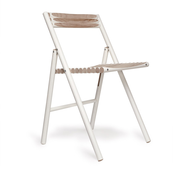 White Wooden Chair - Ecommerce homewares shoot