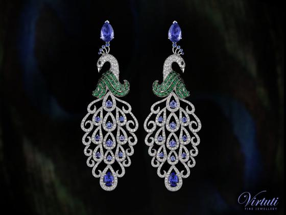 Virtuti Peacock Earrings