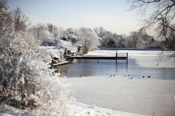 Mens Bathing Pond in Winter | Hampstead Heath, London