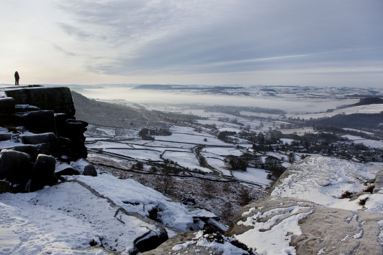 Winter on Curbar Edge, Derbyshire