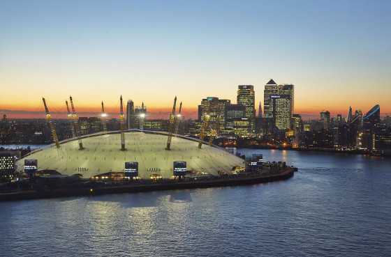 O2 Arena Sunset, London